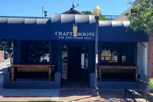 Image of the finished Craft Roots awning